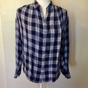 Madewell Central Plaid Shirt - S